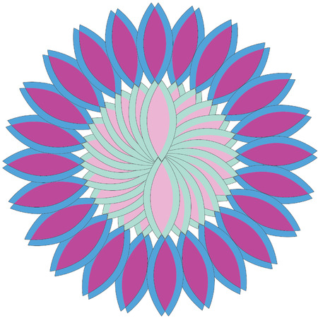 A simple flower shaped geometrical vector design.
