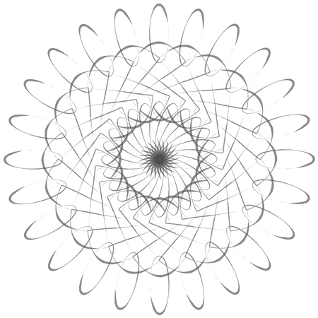 simple flower: A simple flower shaped geometrical vector design.