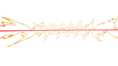 An abstract red and orange line background image.