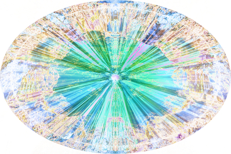 A digitally altered abstract oval background.