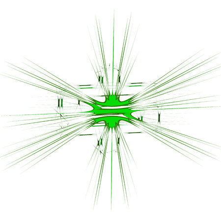 An abstract green burst shaped.