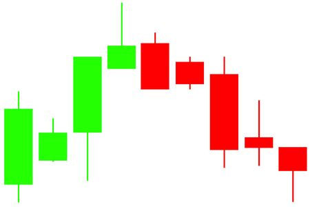 An abstract background design Japanese Candlestick stock chart. Zdjęcie Seryjne