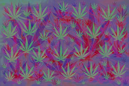 An abstract pot leaf background image.