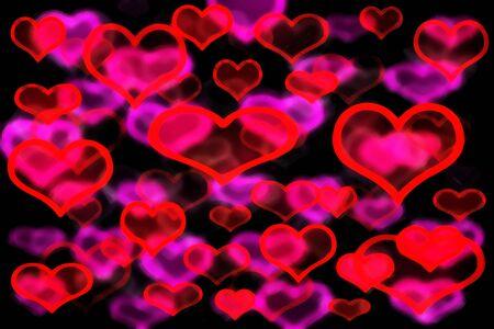 A blurry graffiti heart shaped background image.