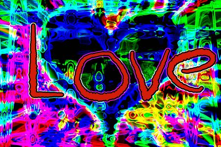 An abstract graffiti style love background image. 스톡 콘텐츠