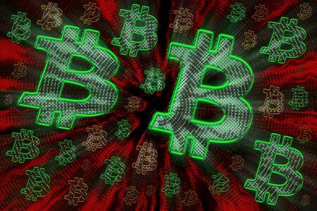 An abstract grunge Bitcoin background image. Reklamní fotografie