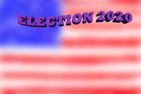 An abstract Election 2020 and blurry United State flag Background.