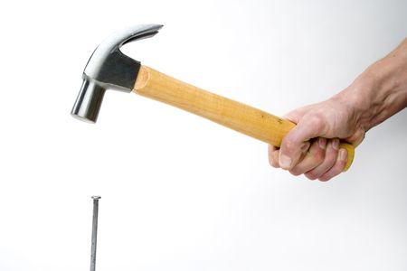 hamering a nail