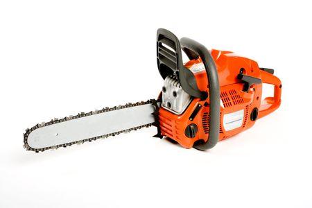 carpenter's sawdust: a chainsaw