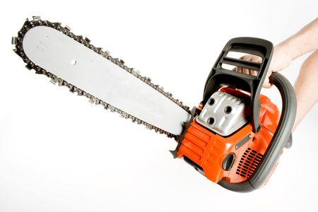 een chainsaw Stockfoto