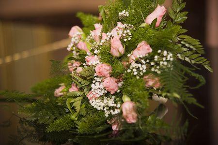 lady s: wedding bouquet Stock Photo