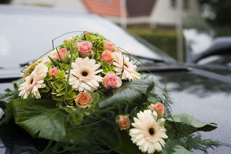 Flowers on the car Stock Photo - 2541853