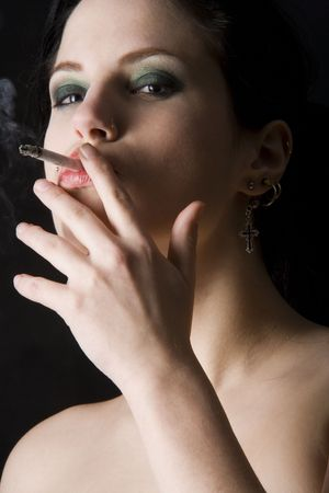 smoking beauty photo