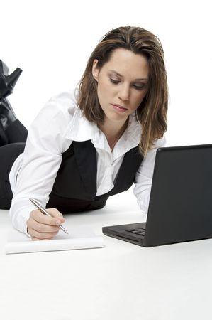 lovely girl working photo