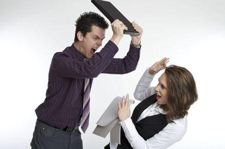 angry boss: angry boss Stock Photo