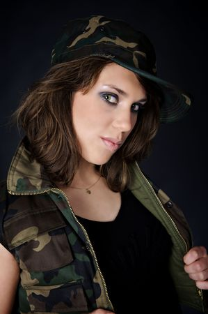 Sexy army girl photo