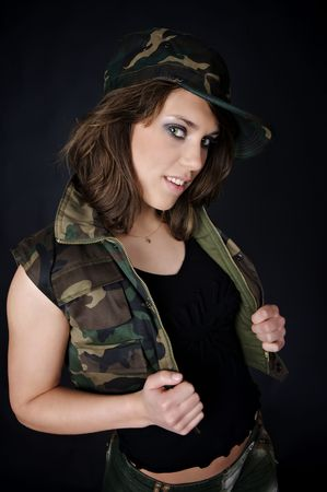 Army girl photo