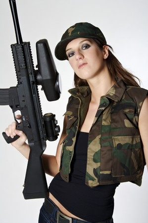 Paintball girl photo