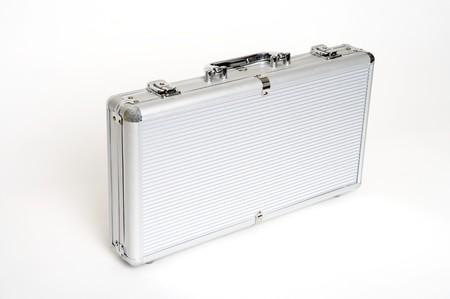 mundane: a metal suitcase