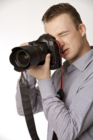 photography session: young photographer