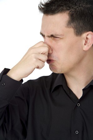 smelly guy Stock Photo