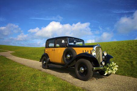 Flowers on a car photo