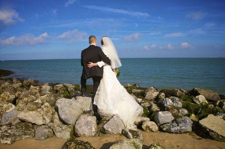 couple at the beach Archivio Fotografico
