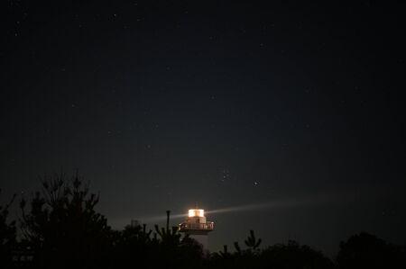 lighthouse anori at mid night
