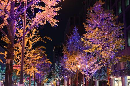 osaka lightup street at night