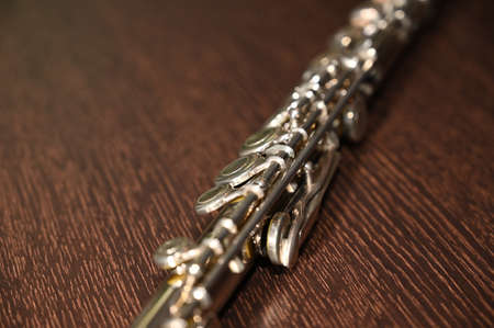 old flute with silver up