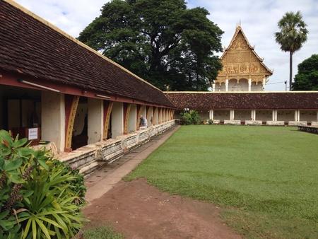 that: Wat Pr That Luang, Vientien Lao. Stock Photo