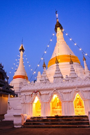 white pagoda in thai photo