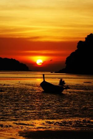 sunset on the beach Stock Photo - 7208855