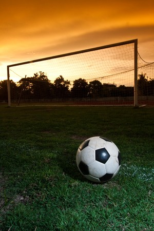football after the sunset photo