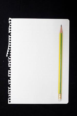 lapiz y papel: Notas de papel.