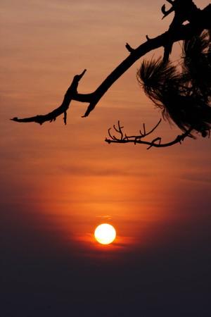 sunset on the mountain