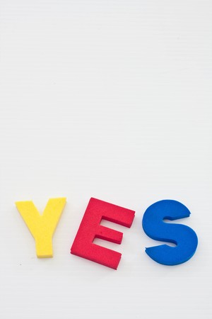yes on paper Stock Photo - 7419700
