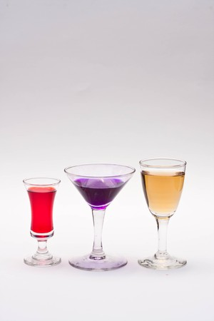cocktail on white background photo