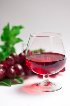 red wine on white background Stock Photo - 7441992