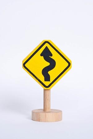 roadwork: icon on the road Stock Photo