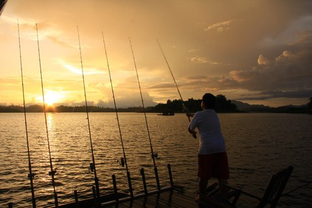 fishing on the lake photo