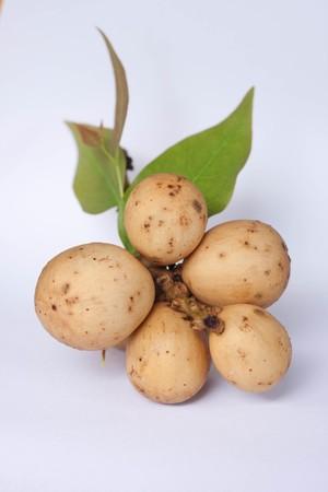 thai fruit on white background photo