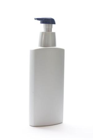 packing bottle on white background photo