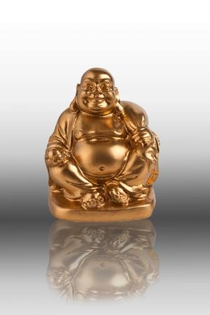smiling buddha: golden chinese buddha