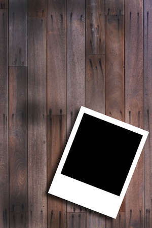 old notebook: picture frame on the wood wall