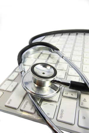 stethoscope on keyboard Stock Photo - 9263040