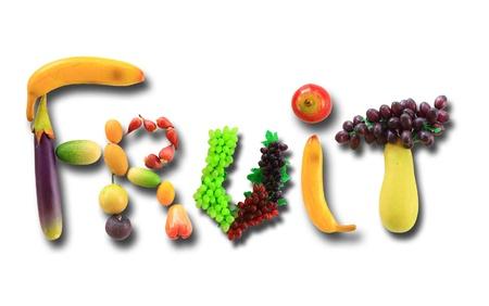 fruit word Stock Photo - 9508725