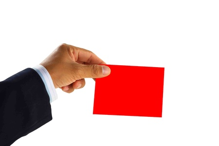 red paper on business man Stock Photo - 9552963