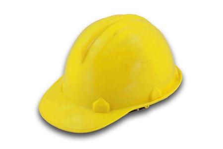 yellow hat on white background Stock Photo - 9552962