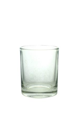 glass on white background photo